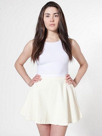 Corduroy Circle Skirt    American Apparel