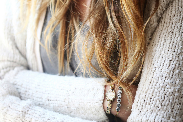 le fur coat jewels sweater