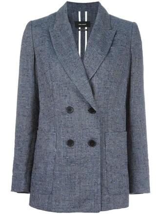 jacket women cotton blue silk