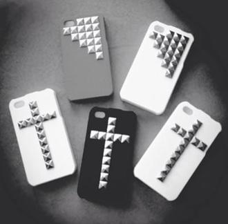 jewels iphone iphone 4 case pls cute cross jewel stud
