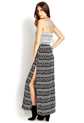 Standout Pixilated Maxi Dress   FOREVER21 - 2000127073