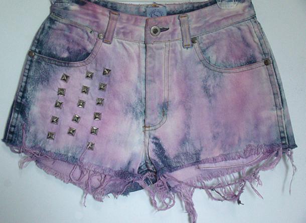shorts disstressed pastell goth