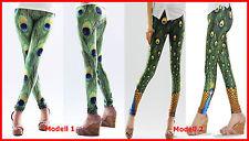 Sexy Peacock Leggings Pfau Feather Leggins Gr 34-38 | eBay