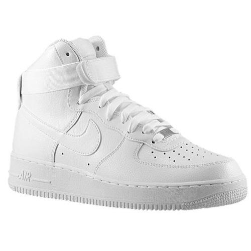 Nike Air Force 1 High - Men's - Basketball - Shoes - White/White