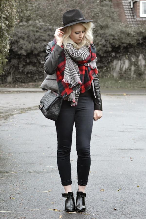 sammi jackson hat jacket scarf jeans bag shoes