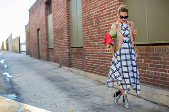 late afternoon blogger dress checkered grid perfecto python shoes