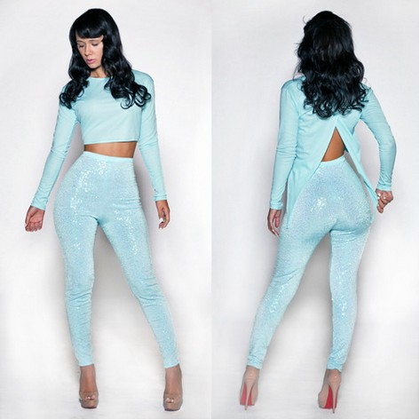 New fashion 2014  wholesale New fashion jumpsuit bandage dress hot bodycon dress sexy women elegant light blue dresses LYQ1410-in Dresses from Apparel & Accessories on Aliexpress.com