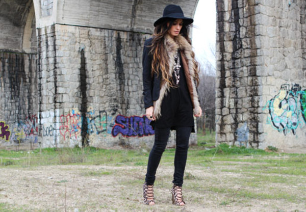madame rosa jacket pants shoes jewels hat