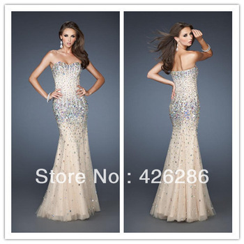 Gorgeous Mermaid Manual Crystal Prom Dresses New Arrival Floor Length Tulle Dress Bridal Gown Chiffon Party Evening Size Custom-in Prom Dresses from Apparel & Accessories on Aliexpress.com