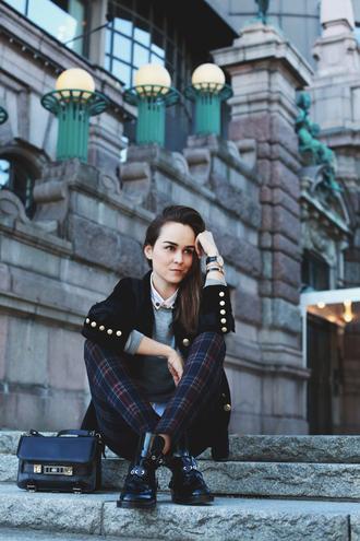 style scrapbook jacket pants sweater bag shoes