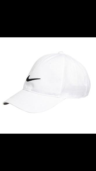 hat nike white logo