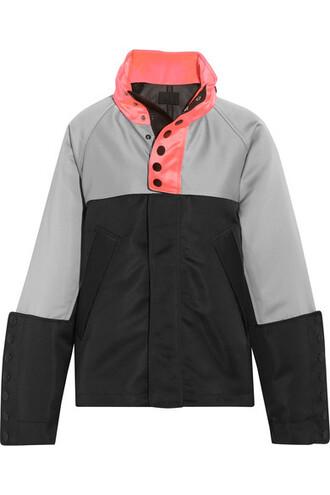 jacket oversized satin