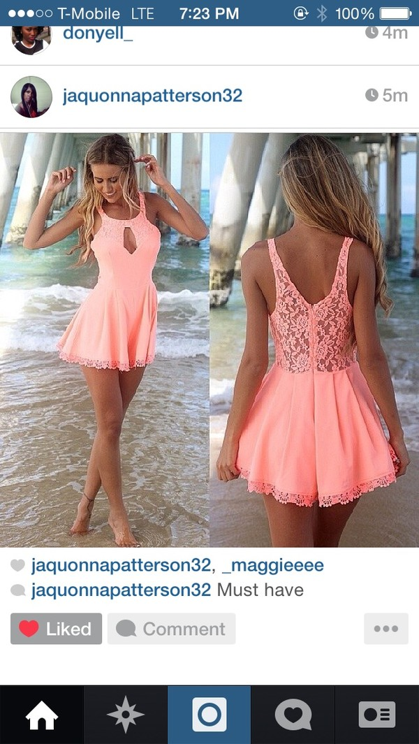 dress short party dresses peach dress