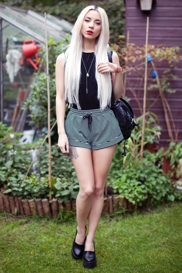 leanne lim walker top shorts shoes bag jewels