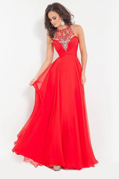 dress red dress prom dress chiffon dress chiffon prom red red prom dress