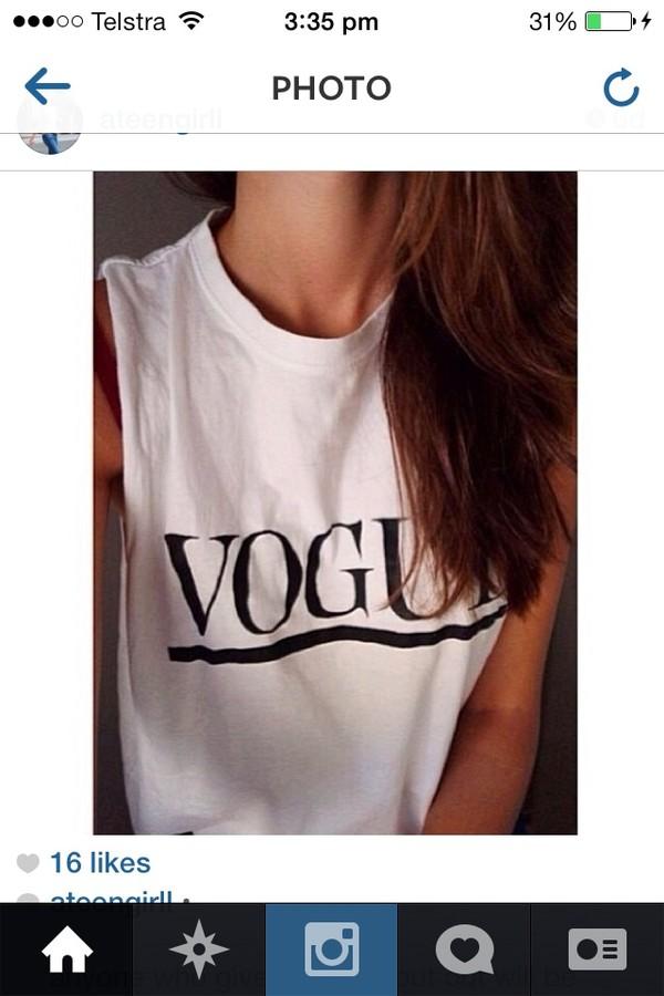 shirt white vogue