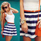 H&m skirt, h&m top, h&m bag, h&m bracelets, parfois watch, mohito belt - nautical stripes - sirma markova   lookbook