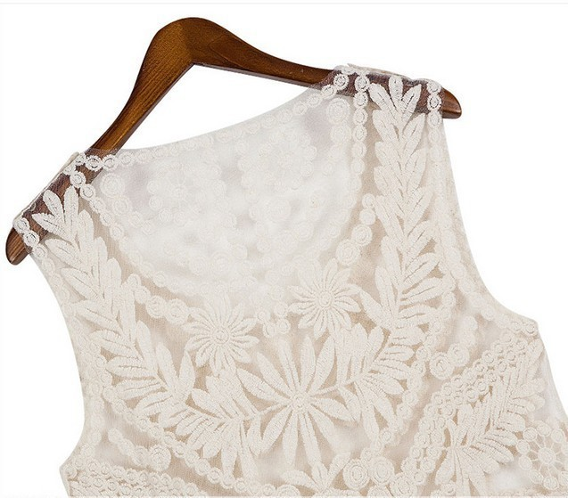 New 2013 fashion Womens Embroidery Floral Lace Crochet Dress High Qaulity Size M L Casual Dresses Free shipping-in Dresses from Apparel & Accessories on Aliexpress.com