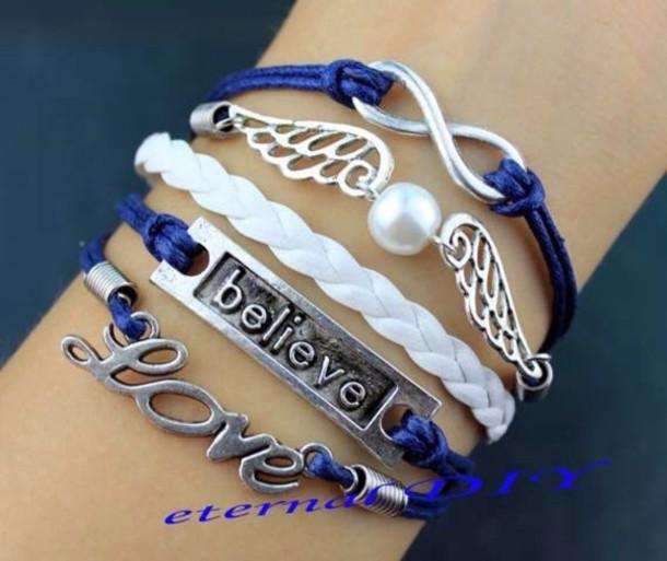 jewels bracelets blue accessories