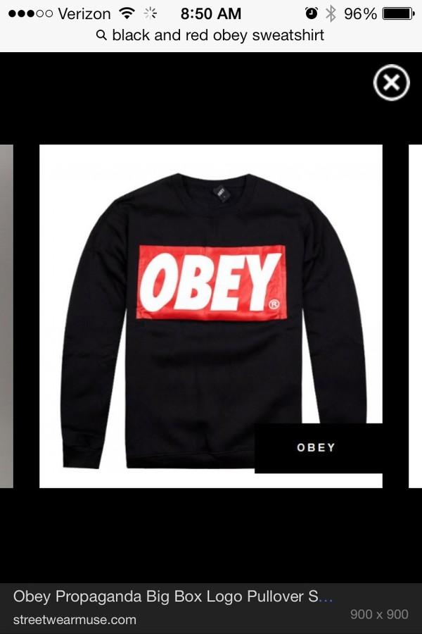sweater obey sweater black
