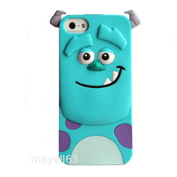 3D CARTOON SULLY MONSTERS INC CUTE SOFT CASE COVER FOR IPHONE 4 / 4s   5 / 5S on Wanelo