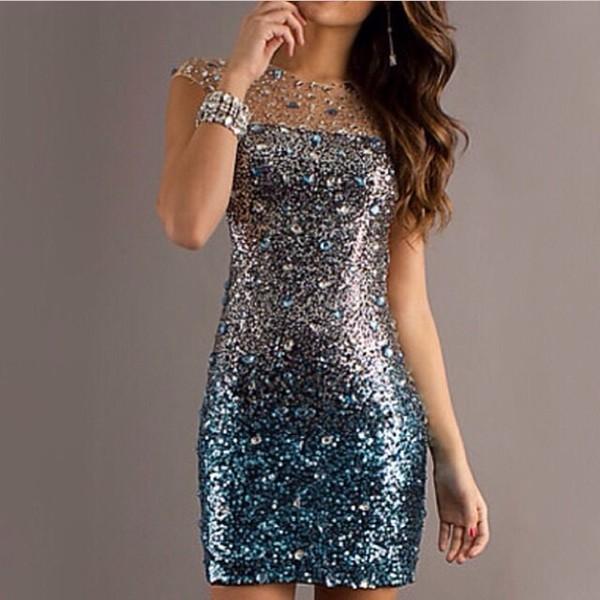 dress sequin dress jeweled dress fancy dress jewels