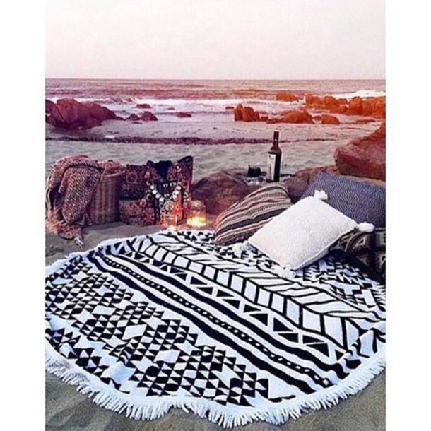 scarf towel swimwear swim: circle beach