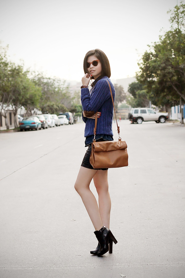 fake leather sweater shirt skirt shoes jewels