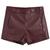 ROMWE | Claret-red Fake Leather Shorts, The Latest Street Fashion