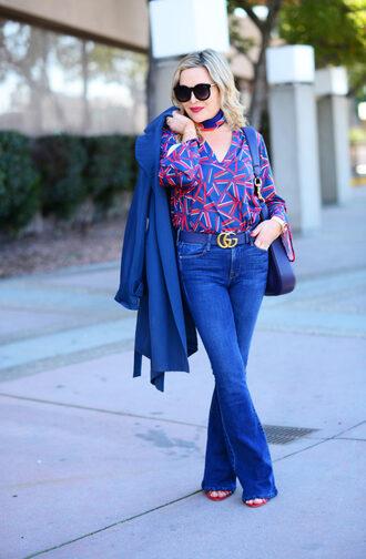 thehuntercollector blogger top coat bag belt sunglasses scarf