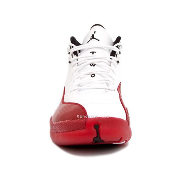 Air Jordan 12 White/Red - Polyvore