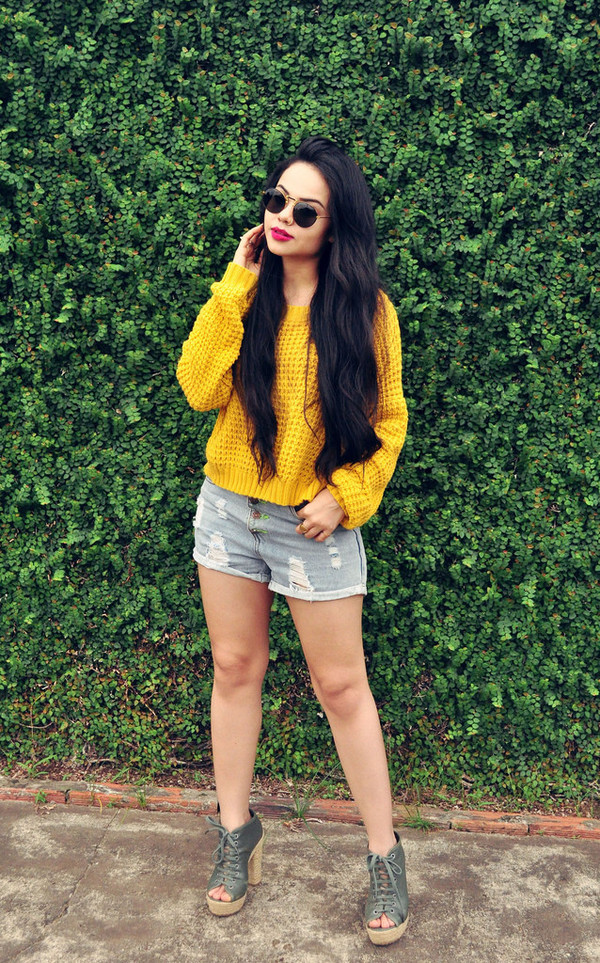 zebratrash sunglasses sweater shorts shoes
