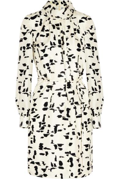 Chloé|Printed silk-twill dress|NET-A-PORTER.COM