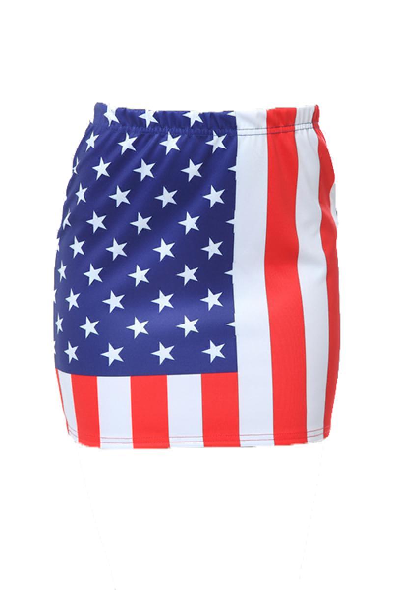 America Flag Pattern One Step Short Skirt ,Cheap in Wendybox.com