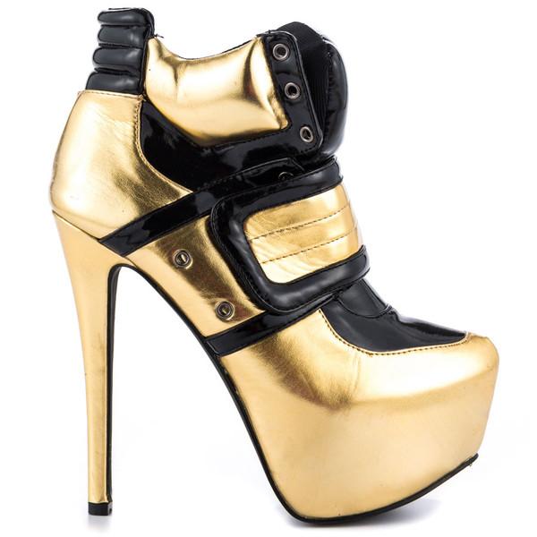 shoes heels high heels black and gold sneakers sneaker heel