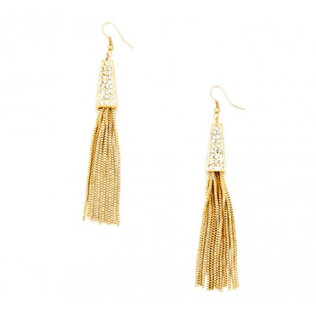 Sole Society - Crystal Fringe Earring - Gold