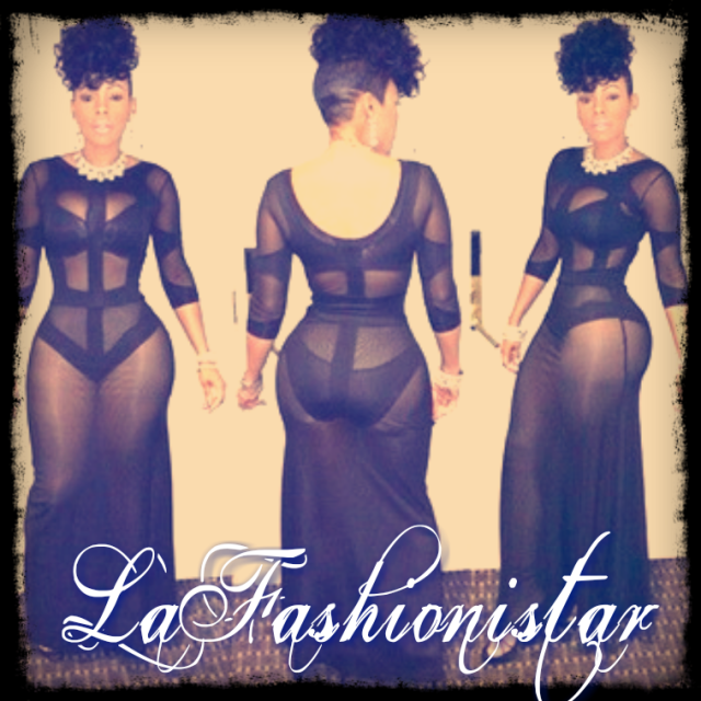 Celebrity Sheer Bodycon Patchwork Dress - LaFashioniStar's