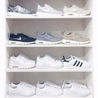 shoes sneakers trainers tumblr aesthetic white grey black