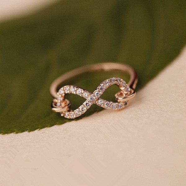 L 082402 Infinity Symbol Zircon Diamond Ring on Luulla