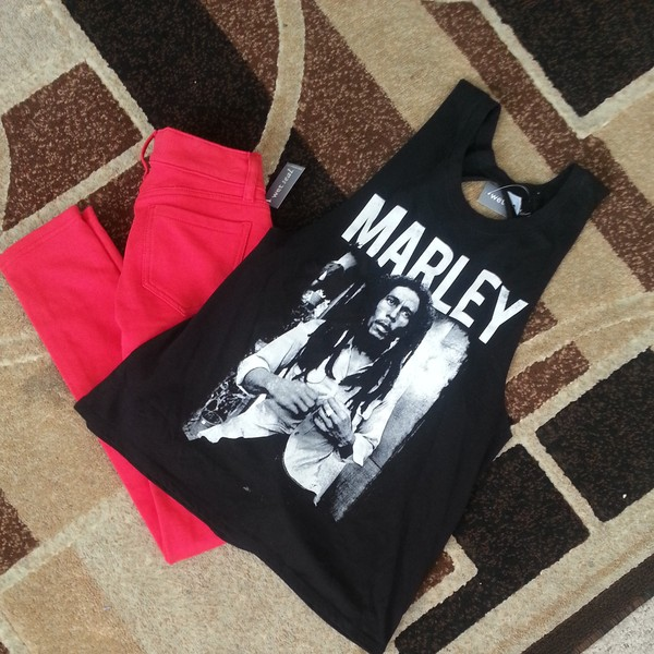 shirt black bob marley