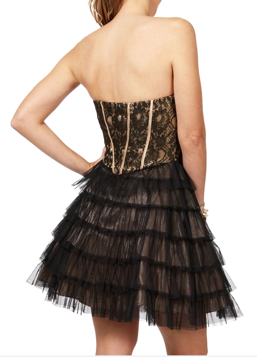 Cheap Free Delivery Sweetheart Lace and Tulle Black Short Prom Dress