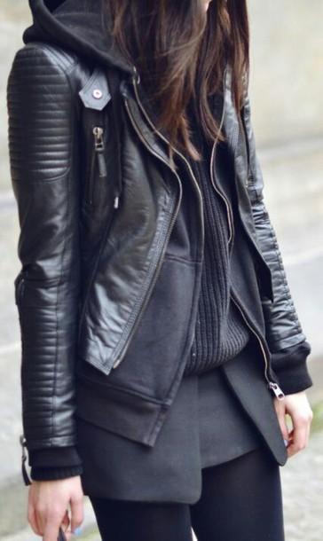 jacket zip dope all black everything