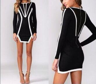 black dress geometric long sleeves long sleeve dress blouse