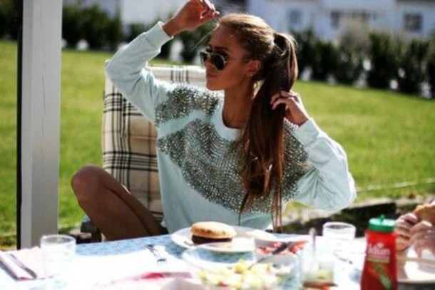 top sweater studs white white top