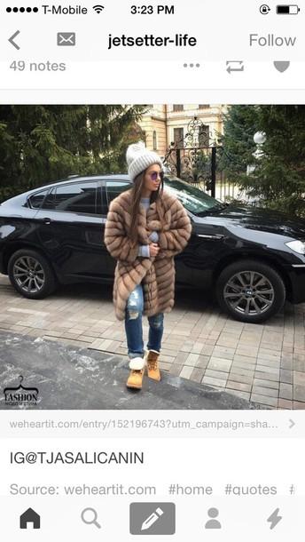 coat fur coat fur jacket fuzzy coat
