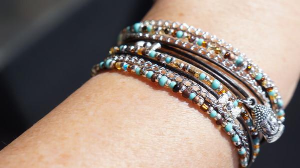 jewels boho buddha leather wrap fleurdesignz