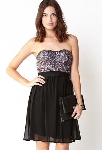 Disco Doll Strapless Dress | FOREVER21 - 2031558258