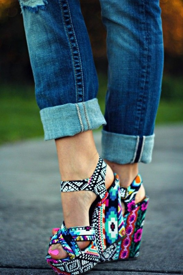Winonna Bright Multi Color Steve Madden Wedge Sandal EZ 7  eBay