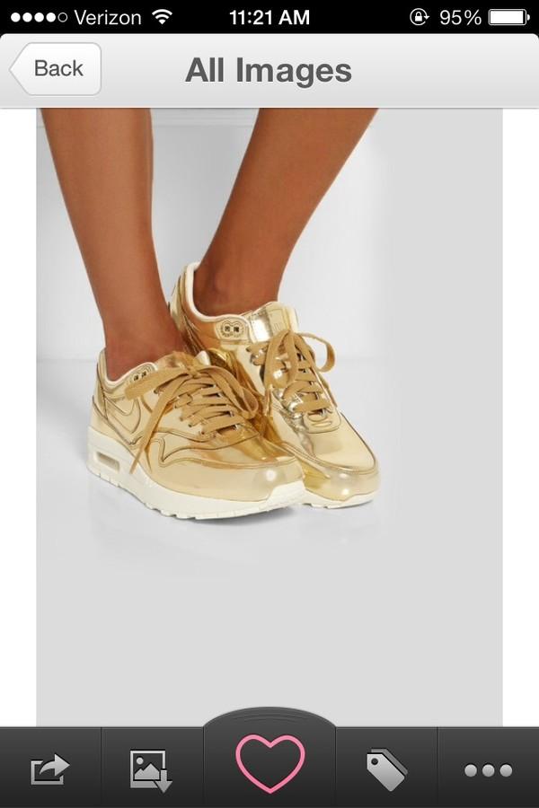 shoes gold nike airs airmax air max