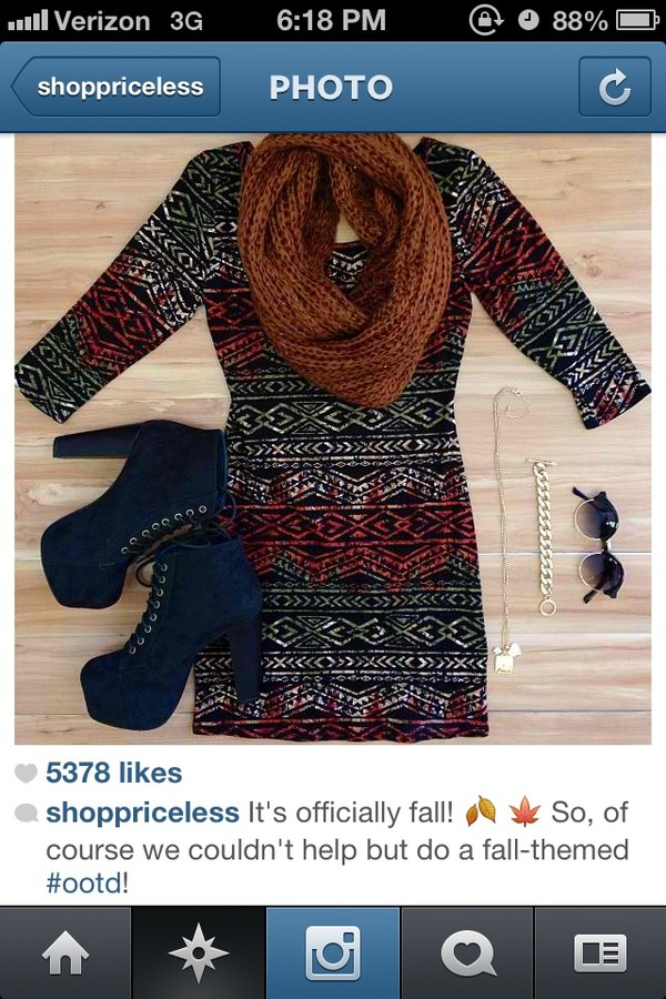 dress scarf infinity scarf boots shoes booties cute dress aztec